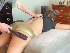 Brittney Pleaz in Quarantine Whore. Daddy Spanks Her Ass After Blowjob.